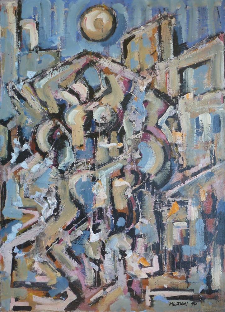 Teatro - Olio su tela - 70 x 50 cm