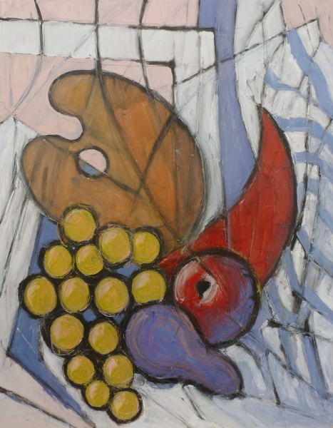 Still life with palette - Olio su tela - 90 x 70 cm
