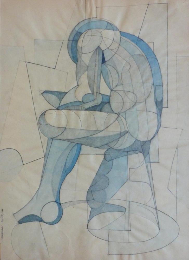 Spinario - Matita e china su carta, 70 x 50 cm - Meriggi, 1988