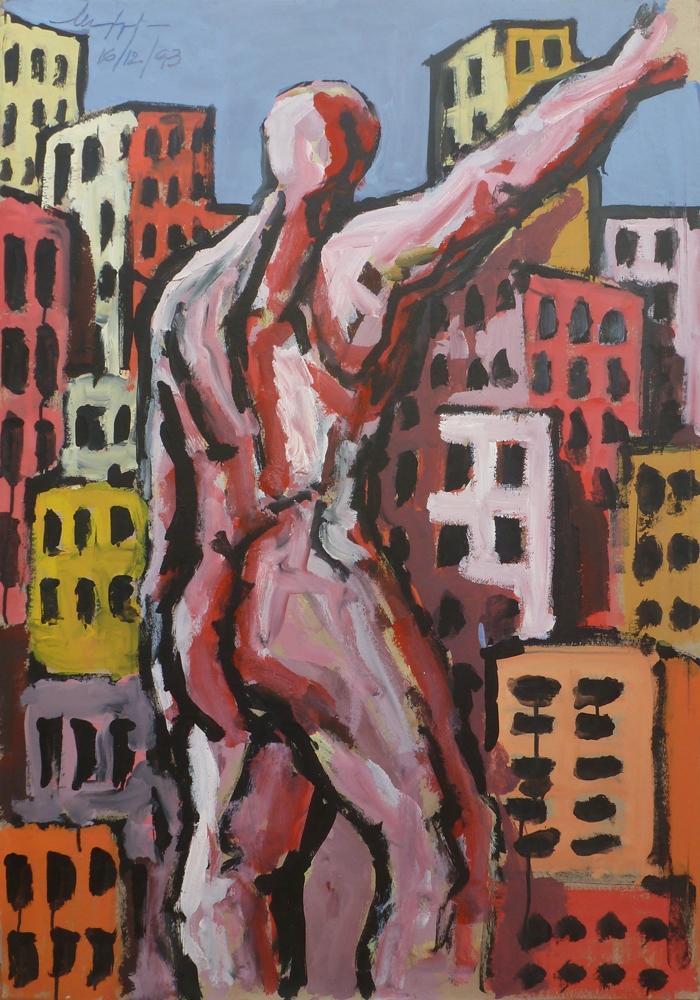 In the city - Acrilico su tela - 70 x 90 cm