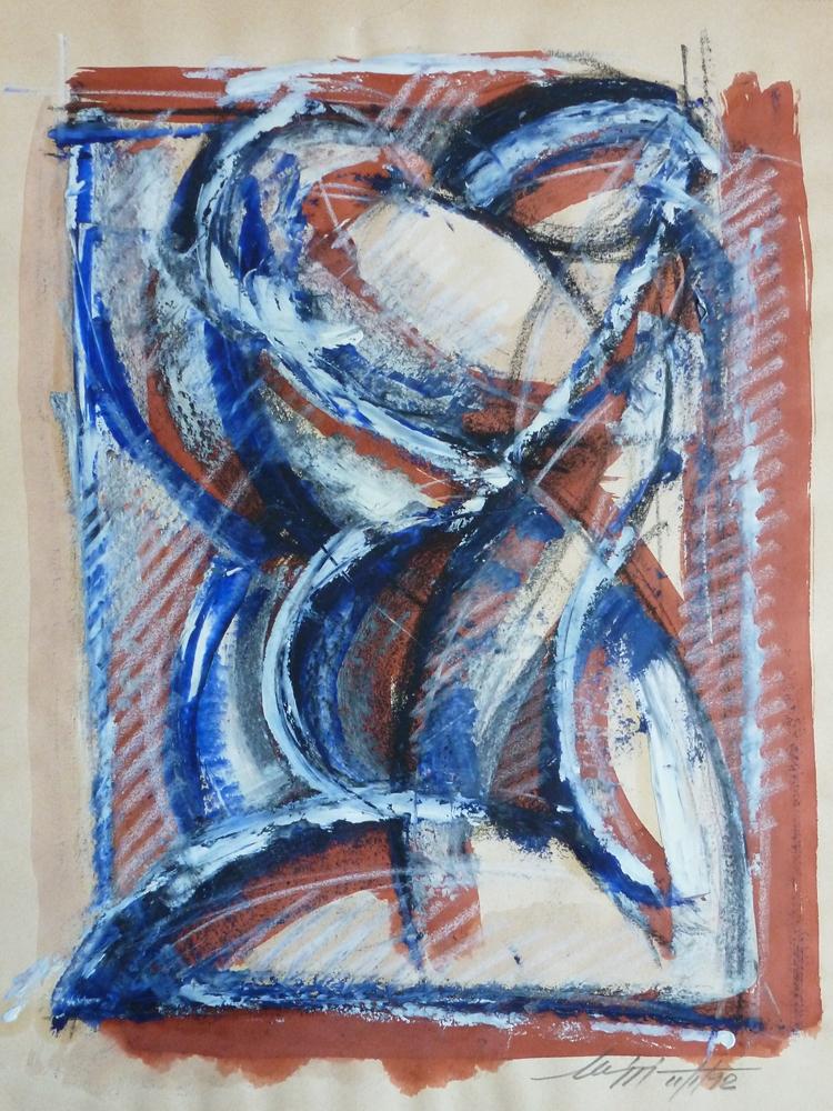 Studio di figura - Acrilico e china su carta - 40 x 30 cm