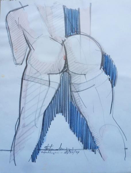Great curves - Acrilico e matita - 40 x 30 cm