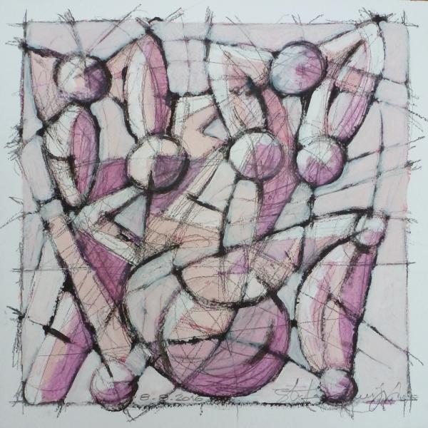 Figure - Acrilico - 31 x 31 cm