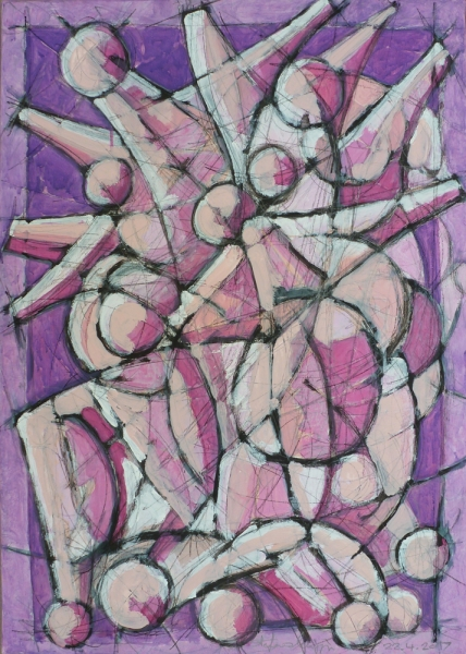 Acrilico e carboncino su tela - 70 x 50 cm