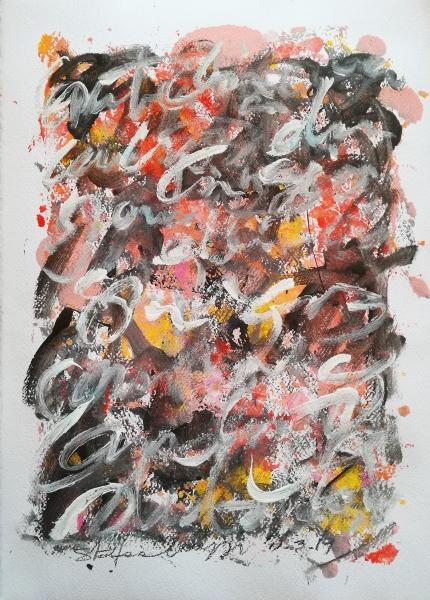 Abstract words - Acrilico su carta