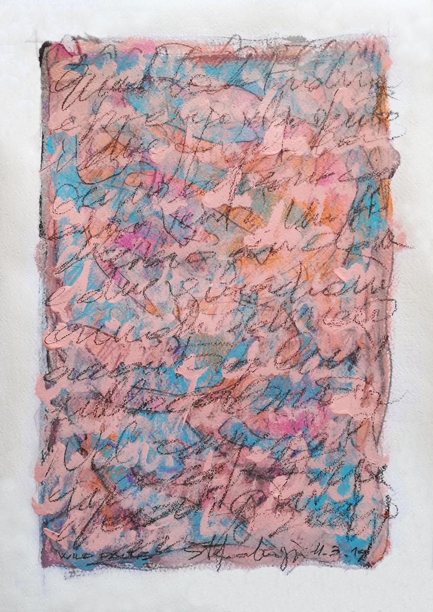 Wild palms - Acrilico su carta
