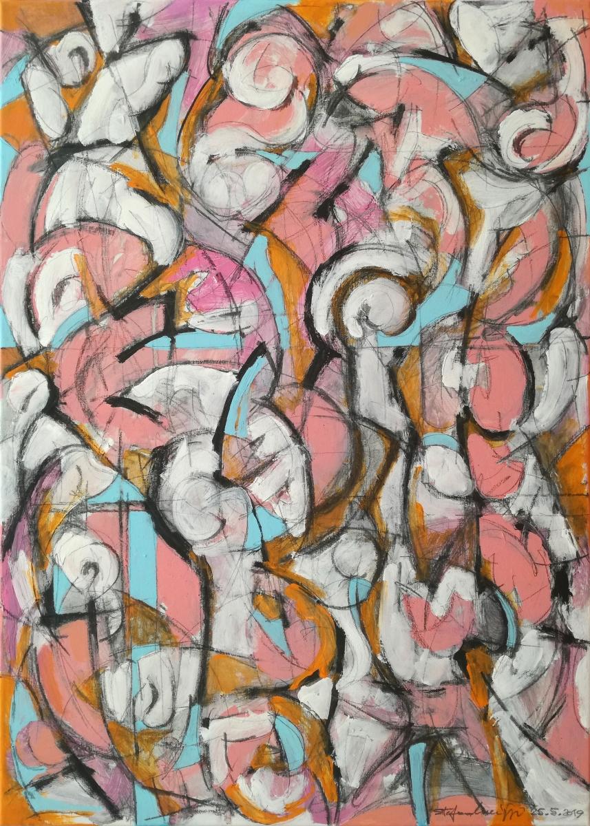 Abstraction One - Acrilico su tela