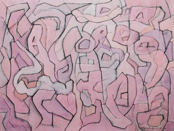 Composition Five - Acrilico su legno - © Stefano Meriggi