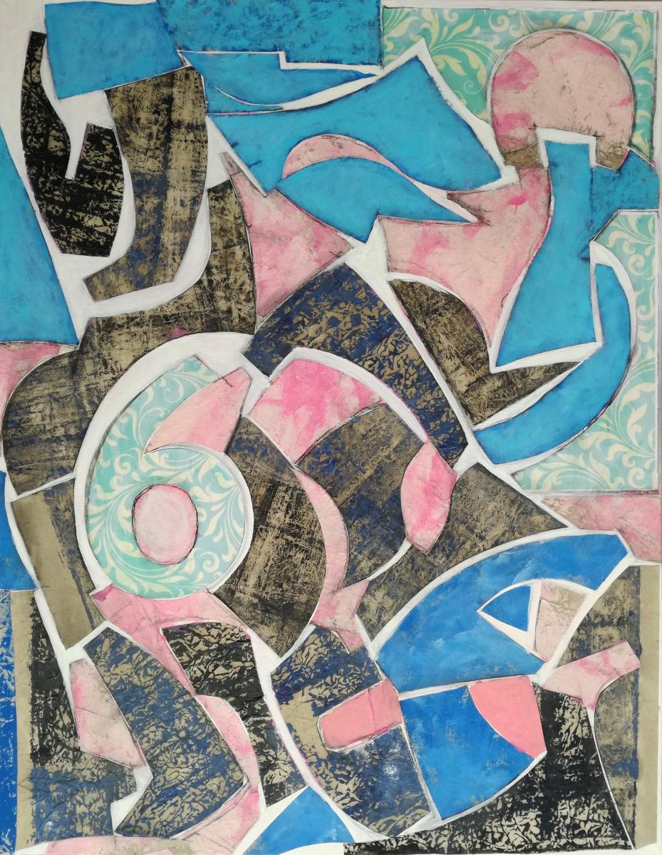 Composizione in collage su tela