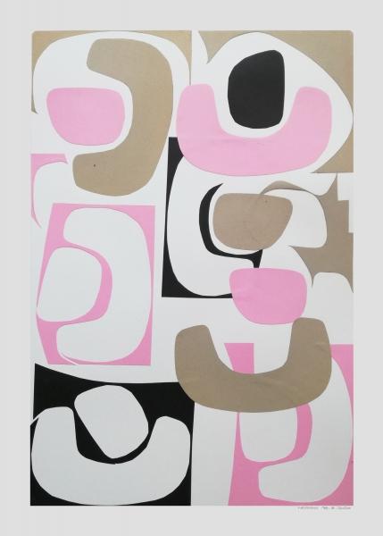 Shapes I, collage composto da alcune forme diverse ritagliate nella carta.